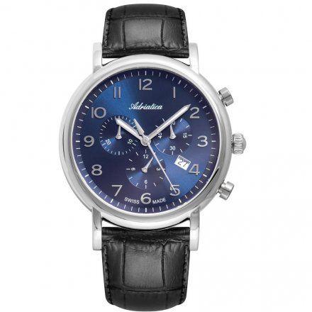 Zegarek Męski Adriatica na Pasku A8297.5225CH - Chronograf Swiss Made