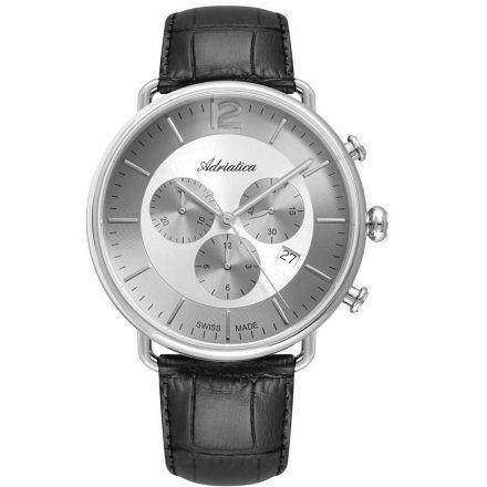 Zegarek Męski Adriatica na Pasku A8299.5253CH - Chronograf Swiss Made