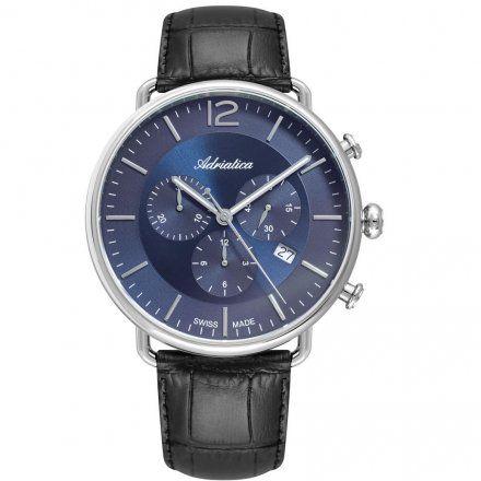 Zegarek Męski Adriatica na Pasku A8299.5255CH - Chronograf Swiss Made