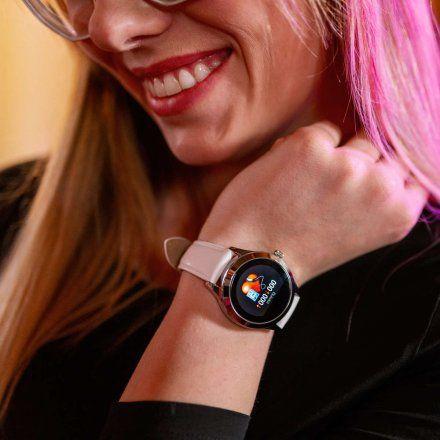 Smartwatch Garett Women Naomi RT srebrny z bransoletą