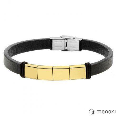 Biżuteria Manoki skórzana bransoletka męska BA692BG