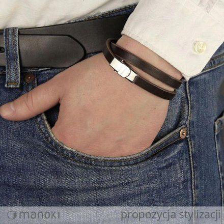 Biżuteria Manoki skórzana bransoletka męska  BA325A