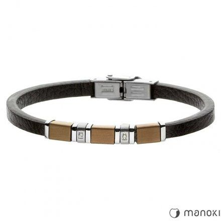 Biżuteria Manoki skórzana bransoletka męska BA410