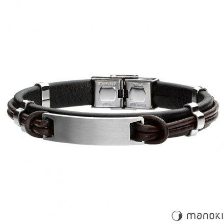 Biżuteria Manoki skórzana bransoletka męska BA501