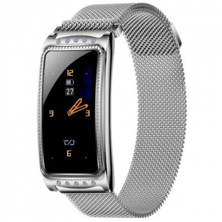Smartwatch Garett Women Lucy srebrny z bransoletą