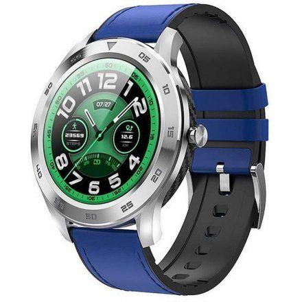 Smartwatch Garett GT22S RT niebieski z paskiem skórzanym