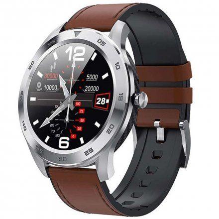 Smartwatch Garett GT22S RT jasny brąz z paskiem skórzanym
