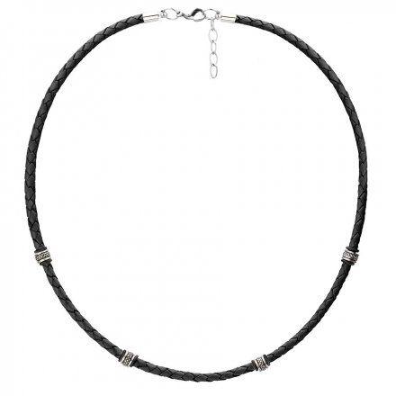 Biżuteria Manoki Skórzany naszyjnik męski WA462B