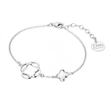 Bransoletka srebrna z koniczynką Biżuteria Ditta Zimmermann DZB384/MRC/R DZB384/MRC/R