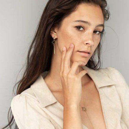 Naszyjnik srebrny pozłacany Biżuteria Ditta Zimmermann DZN360/MRC/Z