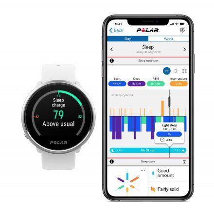 Polar IGNITE Pomarańczowy zegarek fitness z GPS M/L