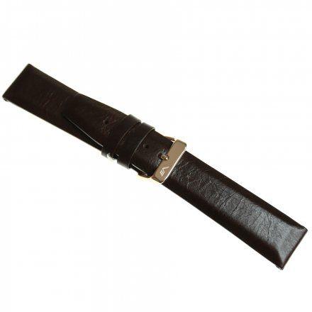 Pasek do zegarka Vostok Europe Pasek Gaz-14 - Skóra 560 (3255) brązowy gładki różowa klamra