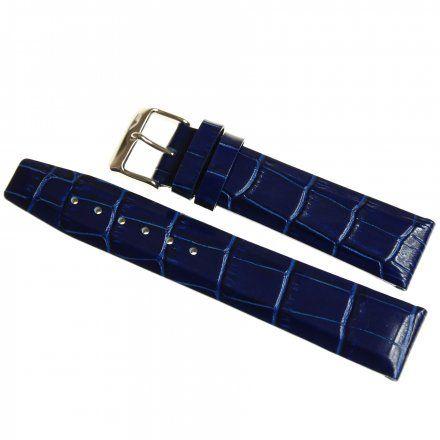 Pasek do zegarka Vostok Europe Pasek Gaz-14 - Skóra 560 (1057) niebieski błyszcząca klamra