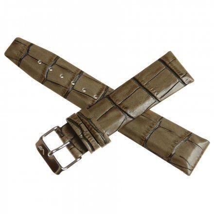 Pasek do zegarka Vostok Europe Pasek Gaz-14 - Skóra 560 (1058) szary błyszcząca klamra
