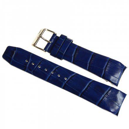 Pasek do zegarka Vostok Europe Pasek Gaz-14 - Skóra 565 (1138) niebieski croco błyszcząca klamra