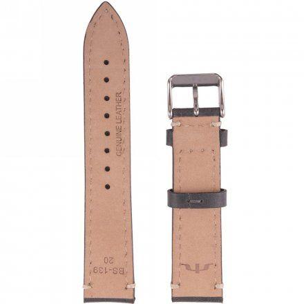 Pasek skórzany do zegarka Bisset BS-139 - 20 mm