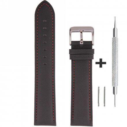 Pasek skórzany do zegarka Bisset BS-158- 20 mm rozmiar XL