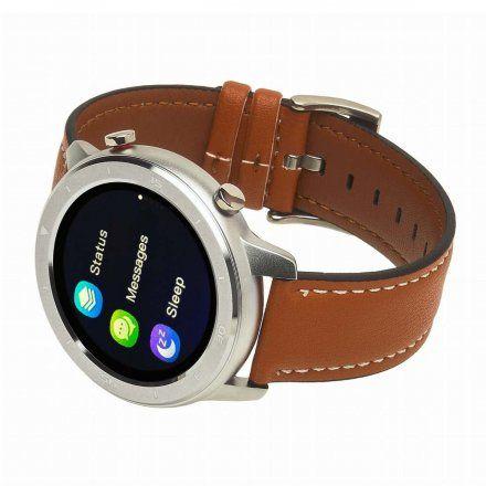 Smartwatch Garett Master RT pomarańczowy z paskiem skórzanym