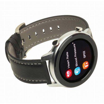 Smartwatch Garett Master RT czarny z paskiem skórzanym