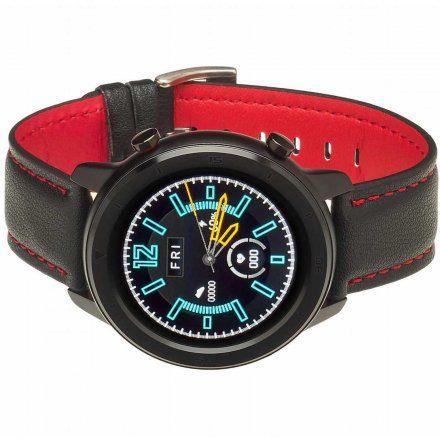 Smartwatch Garett Master RT czarno-czerwony z paskiem