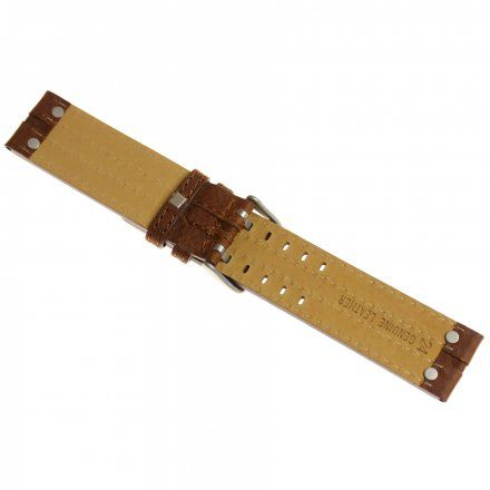 Pasek do zegarka Vostok Europe Pasek Expedition - Skóra (5192) brązowy matowa klamra