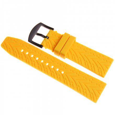 Pasek do zegarka Vostok Europe Pasek Expedition - Silikon (C548) żółty czarna klamra