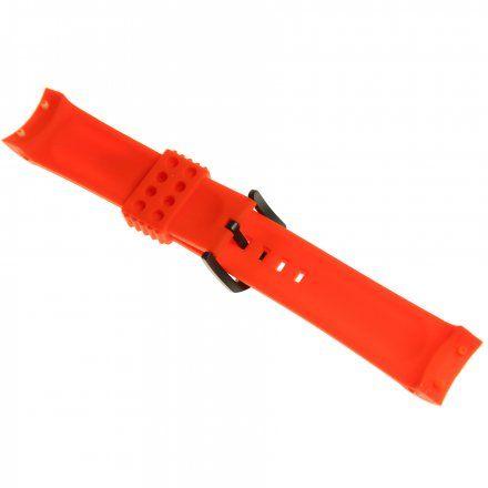 Pasek do zegarka Vostok Europe Pasek Anchar - Silikon (4244) czerwony z czarną klamrą
