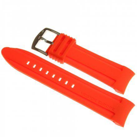 Pasek do zegarka Vostok Europe Pasek Anchar - Silikon (5201) czerwony z błyszcącą klamrą