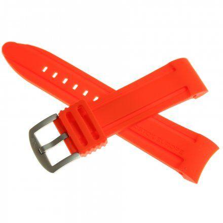 Pasek do zegarka Vostok Europe Pasek Anchar - Silikon (7171) czerwony z matową klamrą