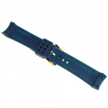 Pasek do zegarka Vostok Europe Pasek Anchar - Silikon (9246) niebieski z różową klamrą