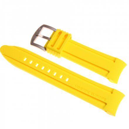 Pasek do zegarka Vostok Europe Pasek Anchar - Silikon (5143) żółty z matową klamrą