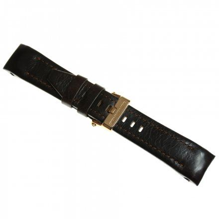 Pasek do zegarka Vostok Europe Pasek Lunokhod - Skóra (9209) brązowy różowa klamra