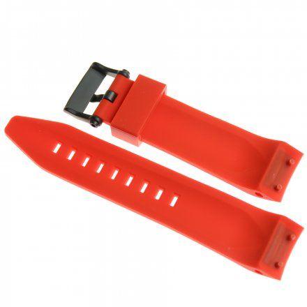 Pasek do zegarka Vostok Europe Pasek Lunokhod - Silikon (4208) czerwony z czarną klamrą