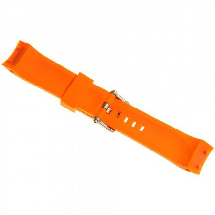 Pasek do zegarka Vostok Europe Pasek Lunokhod - Silikon (5207) pomarańczowy z matową klamrą