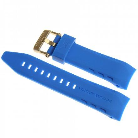 Pasek do zegarka Vostok Europe Pasek Lunokhod - Silikon (5213) jasny niebieski z matową klamrą