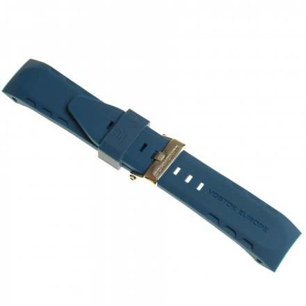 Pasek do zegarka Vostok Pasek Lunokhod - Silikon (E278) niebieski z błyszczącą klamrą
