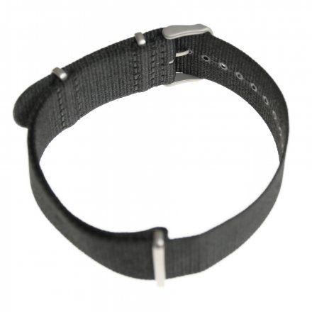 Pasek do zegarka Vostok Europe Pasek Lunokhod - Nylon (5213) czarny matowa klamra