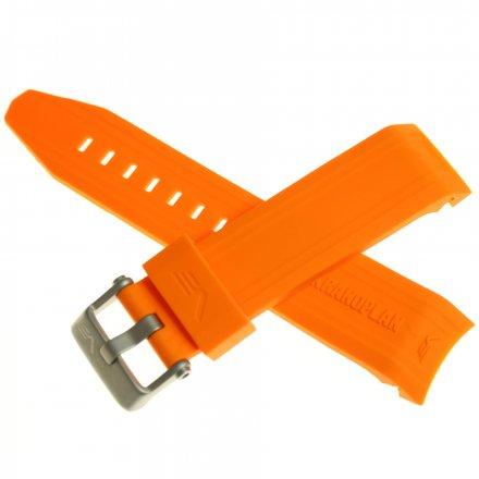 Pasek do zegarka Vostok Europe Pasek Ekranoplan 2 - Silikon (A509) pomarańczowy matowa klamra