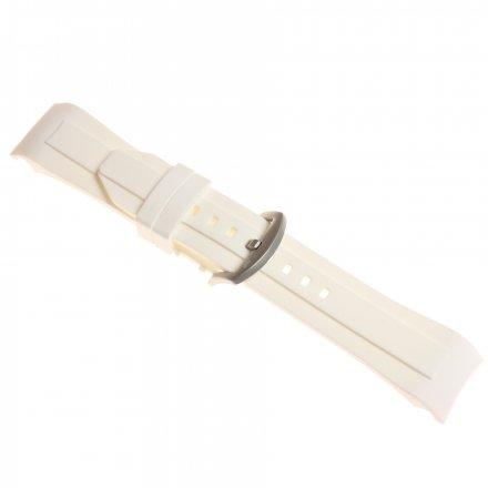 Pasek do zegarka Vostok Europe Pasek Ekranoplan - Silikon (2109) biały matowa klamra