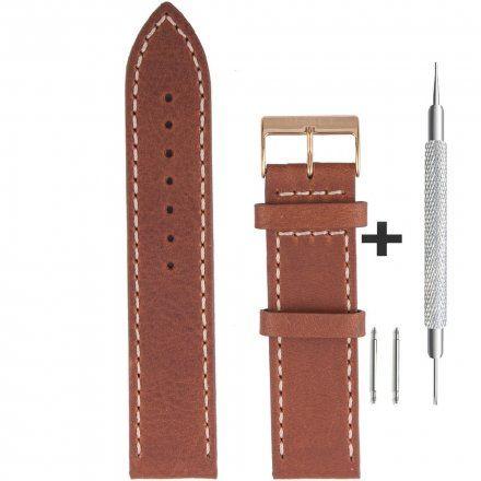 Bisset Pasek skórzany do zegarka BISSET BS-109-22mm uniwersalny
