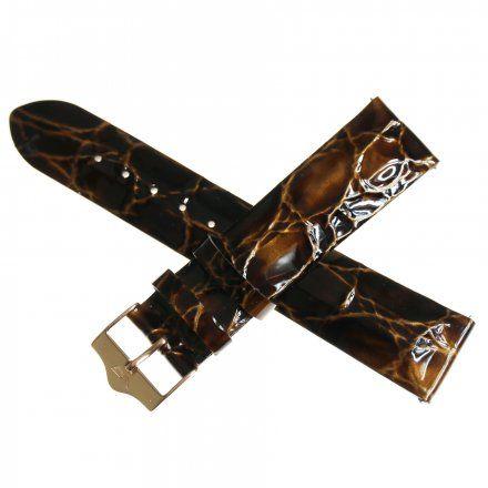 Pasek do zegarka Vostok Europe Pasek Rocket N1 - Damski (9164) brązowy perłowy różowa klamra