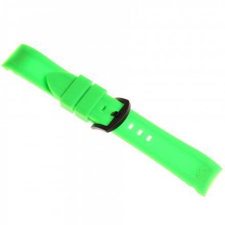 Pasek do zegarka Vostok Europe Pasek Rocket N1 - Silikon 225 (4252) zielony z czarną klamrą