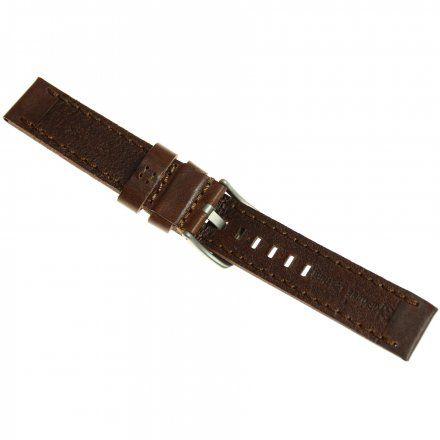 Pasek do zegarka Vostok Europe Pasek Almaz - Skóra (H263) brązowy matowa klamra