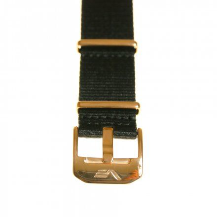 Pasek do zegarka Vostok Europe Pasek Almaz - Nylon (B259) czarny klamra różowe złoto