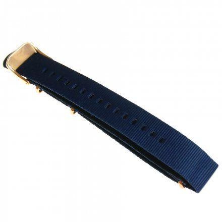 Pasek do zegarka Vostok Europe Pasek Almaz - Nylon (B262) niebieski klamra różowe złoto
