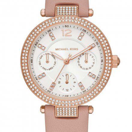 MK2914 Zegarek Damski Michael Kors Parker z różowym paskiem