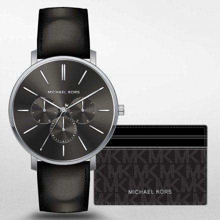 MK8833 Zegarek Męski Michael Kors Blake na pasku + Etui na karty