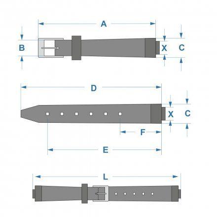 Pasek 10540140 Do Zegarka Casio Model GA-700-2A Granatowy