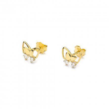 Biżuteria SAXO 14K Kolczyki z diamentami 0,08ct CK-59 Złoto