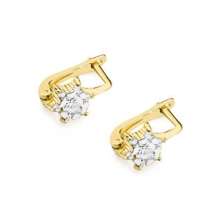 Biżuteria SAXO 14K Kolczyki z diamentami 0,30ct CK-61 Złoto